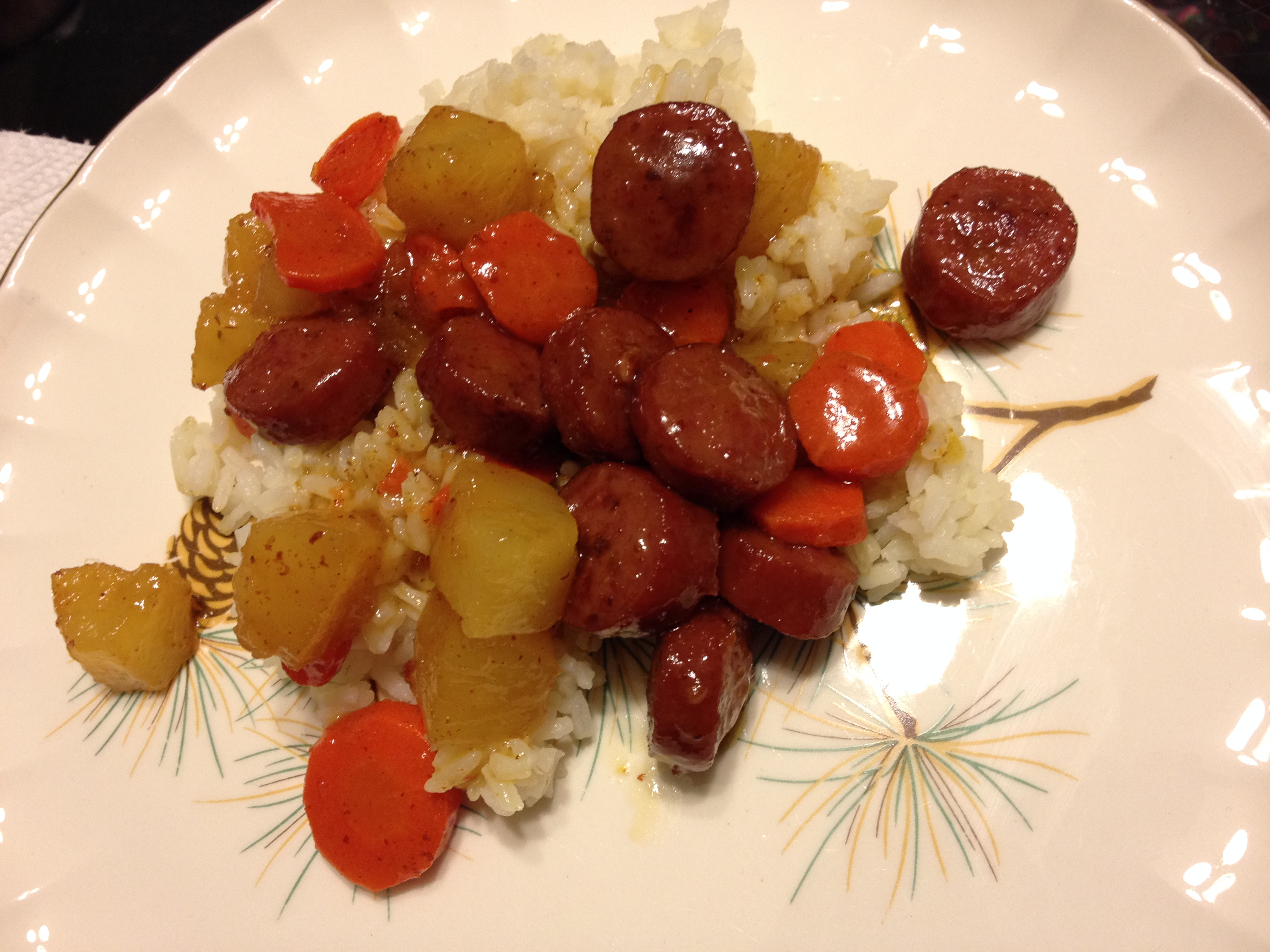 Ham Style Kielbasa with Pineapple