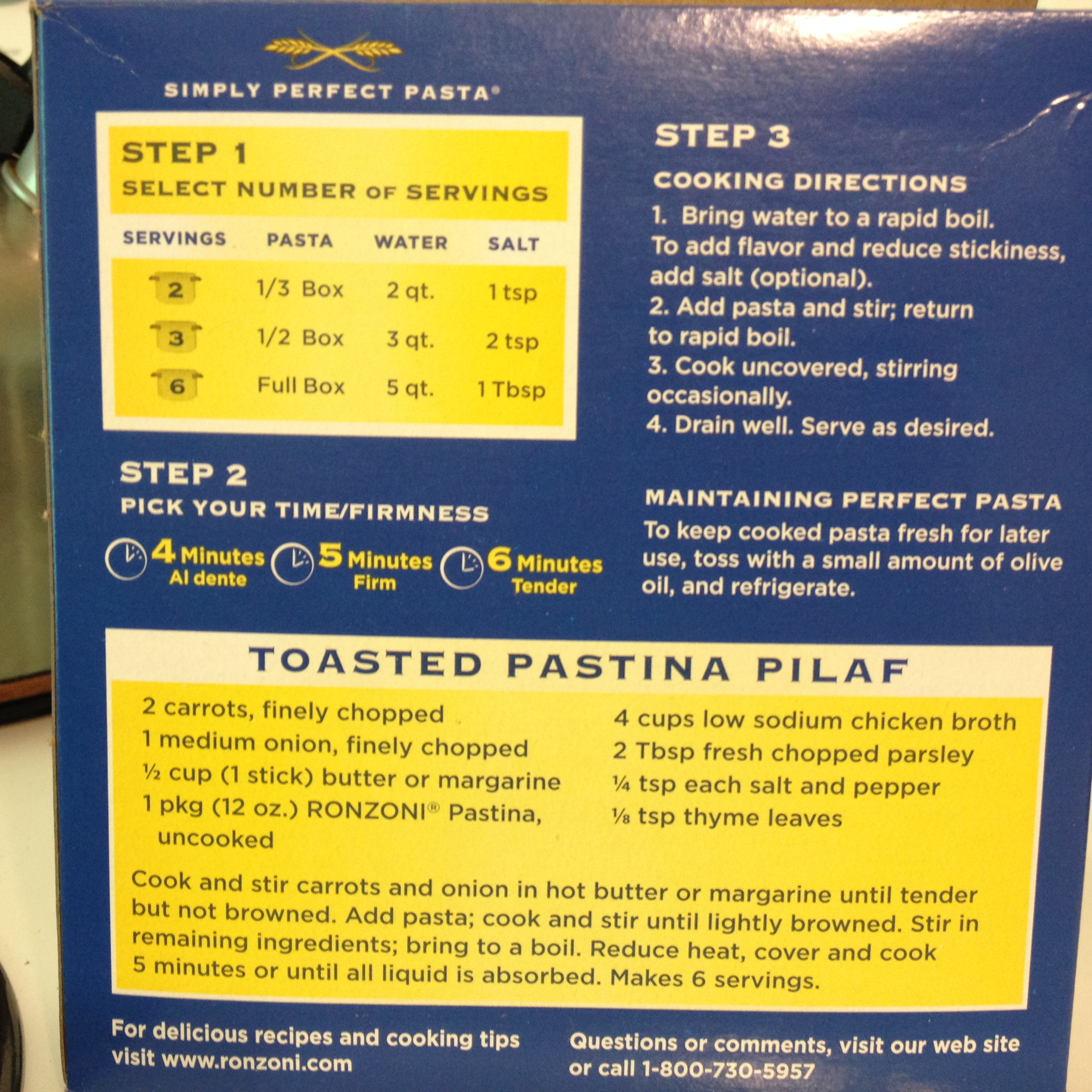 It's On The Box! …Pastina
