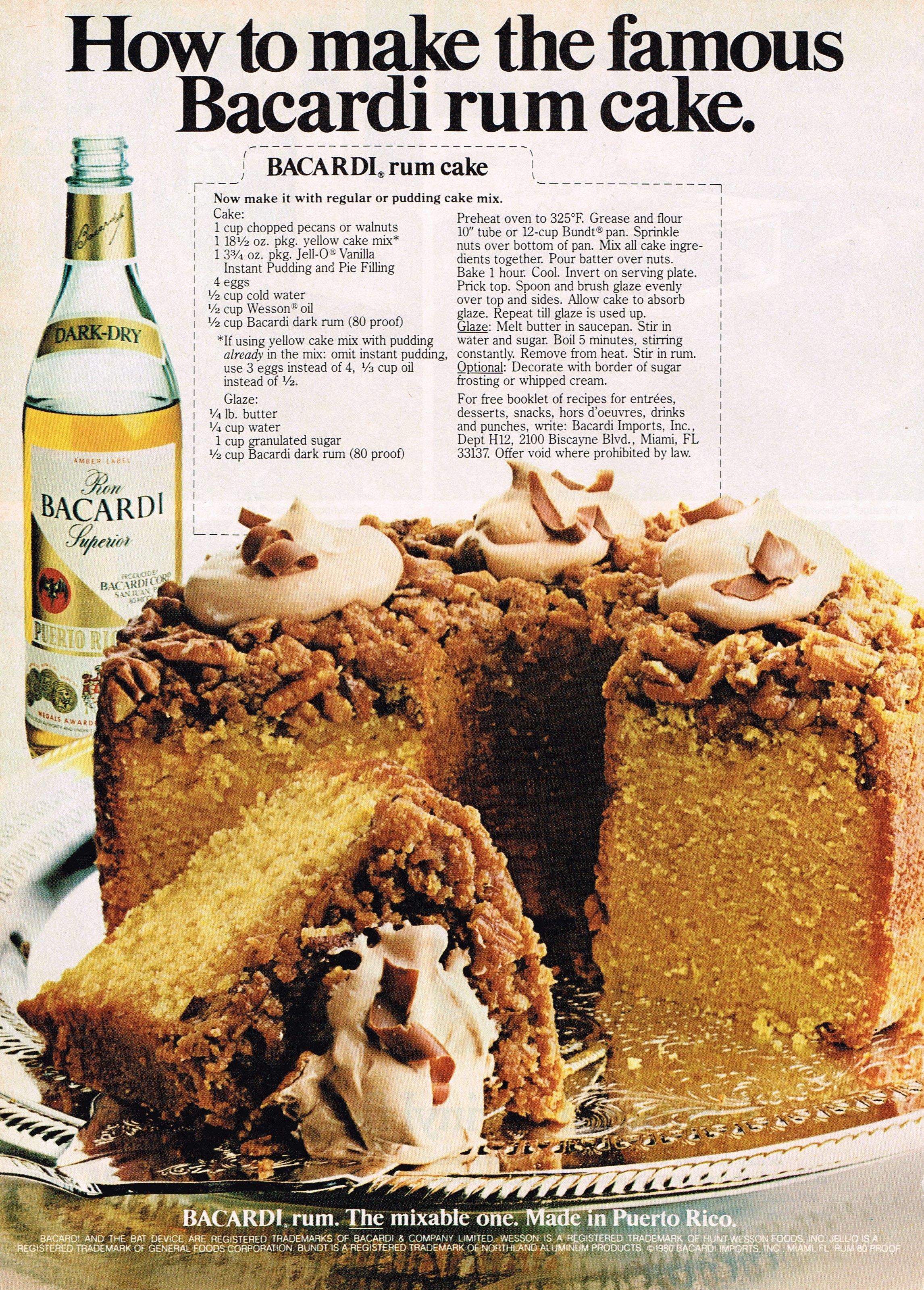Bacardi Rum Cake