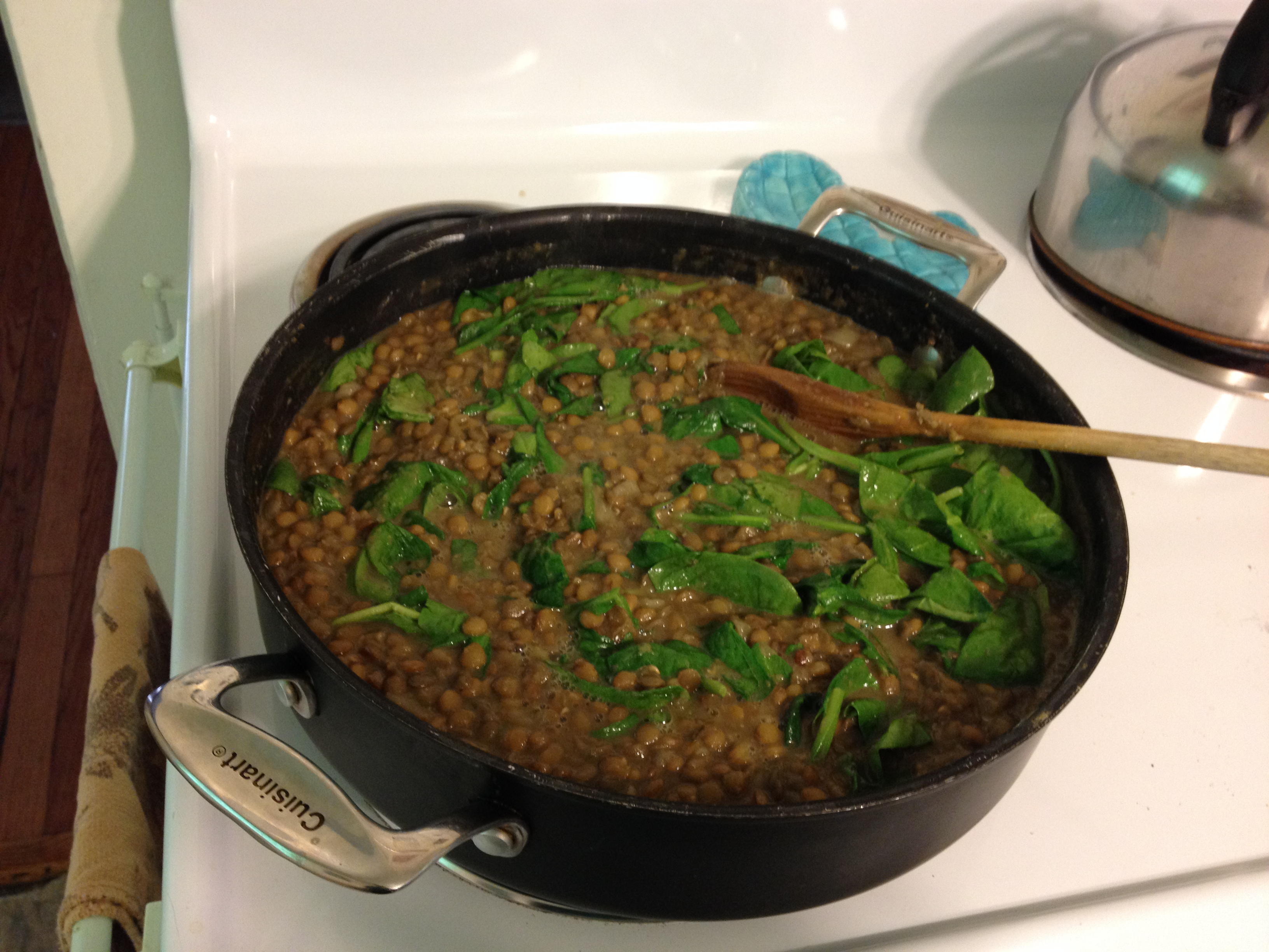 Lentil Soup with Greens and Garlic
