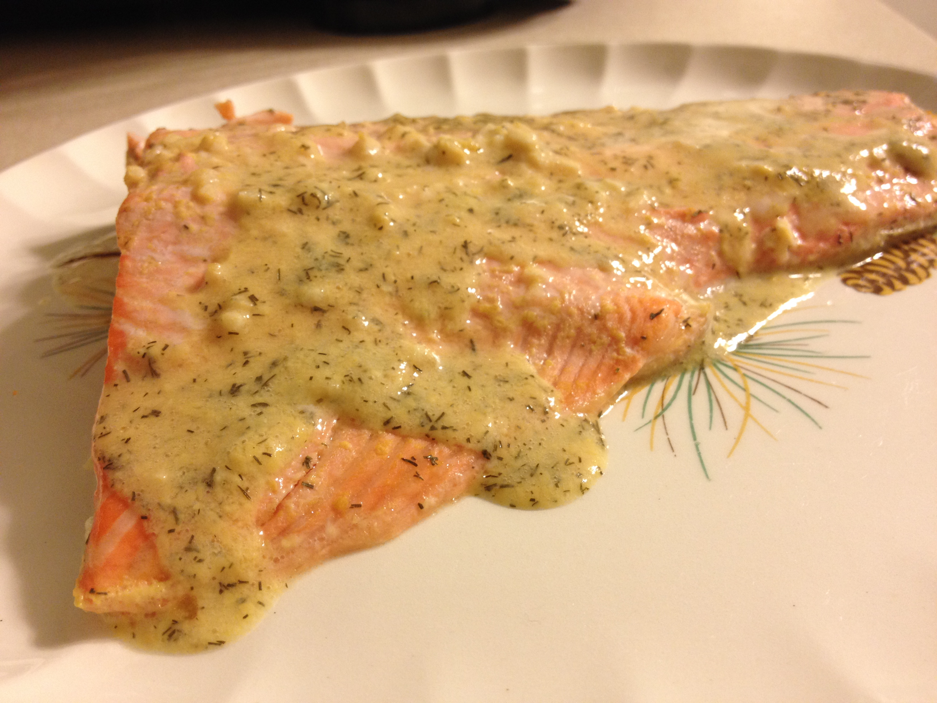 Steelhead Trout with Wine and Mustard