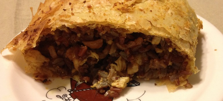 Curried Chicken and Wild Rice Strudel