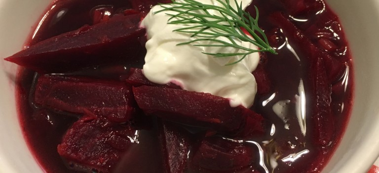Roasted Beet and Lentil Soup